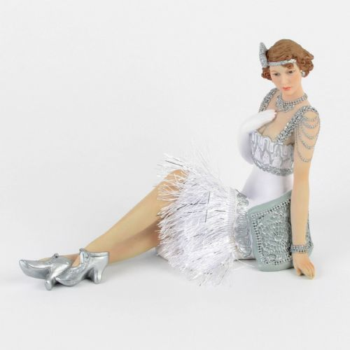 Juliana Gatsby Girls - Art Deco Lady Figurine - Sitting Lady - Evelyn 58230
